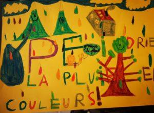 J-11: PEINDRE LA PLUIE EN COULEURS ☂️☔🌈  Aujourd'hui, c'est ARTHUR, 10 ans, de Neuilly, qui peint la pluie en couleurs !