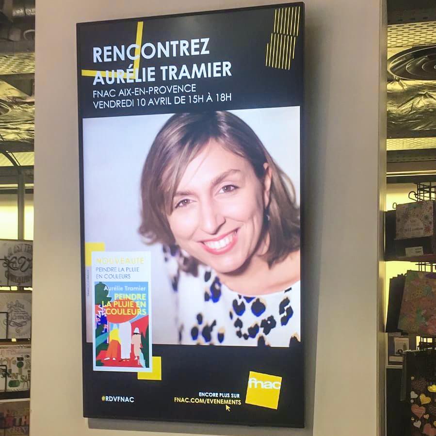 Affiche dédicace à la Fnac par Aurélie Tramier