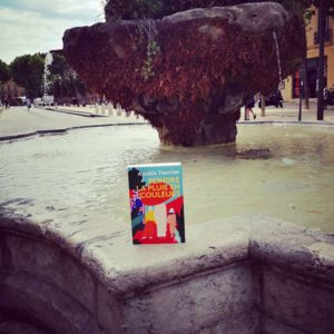 JOUR 1  A Aix-en-Provence, on peint déjà la pluie en couleurs (en même temps, il ne pleut pas souvent)!