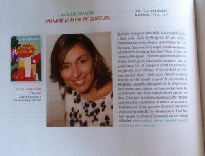 QUELLE JOIE de découvrir hier mon roman dans Page des libraires, avec une jolie recommandation de Isabelle, chez Fontaine à Passy!