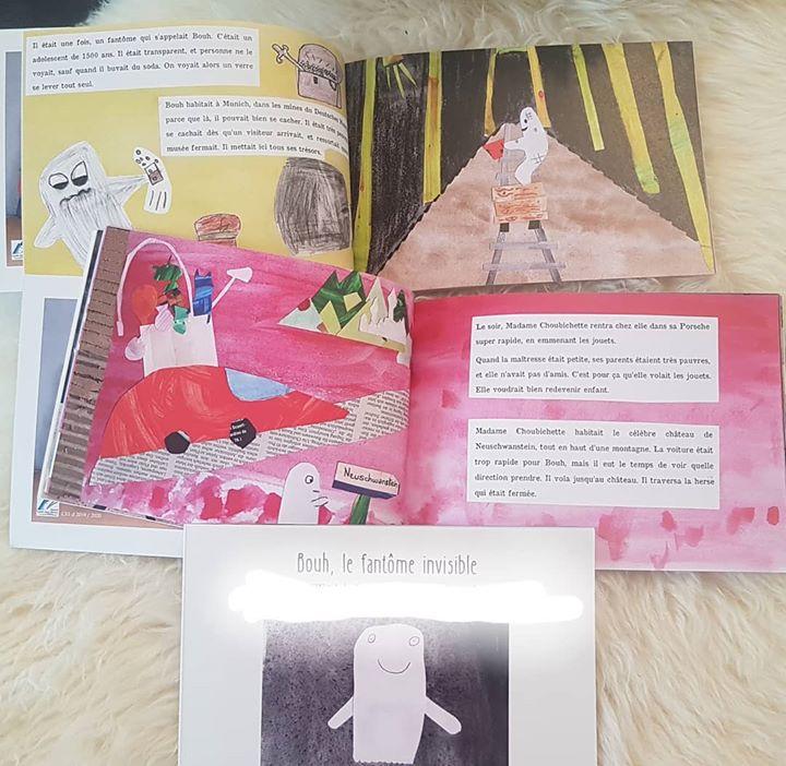 Chère Maîtresse,  pas d'humour aujourd'hui, seulement de l'émerveillement en recevant le livre écrit et illustré par nos enfants dans le cadre du concours Calamagui.