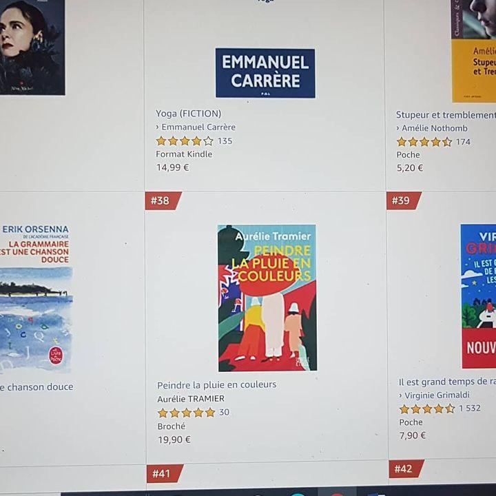 VENDREDI SOIR, ça s'appelle l'effet Gérard Collard ❤ 38e au classement Littérature française d'Amazon juste en dessous d'Amélie Nothomb et main dans la main avec E.