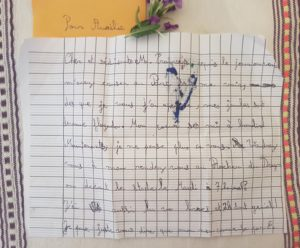 Ma première lettre de fan